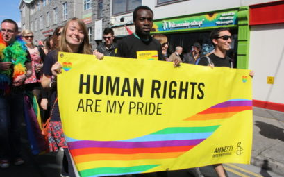 Pride marches in Dublin and Galway, August 2012.